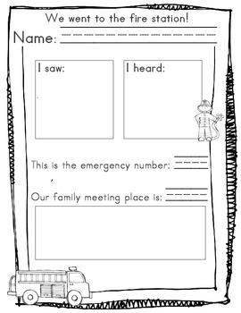 Fire Prevention {Response Sheet}