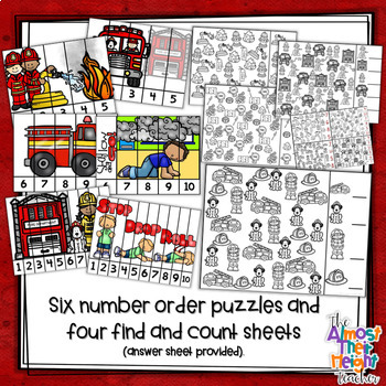 Fire Safety Week: Math Centers - 5 Fire Themed Number Sense Activities