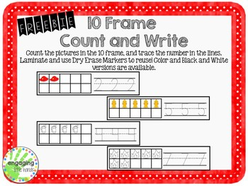 Fire Safety 10 Frame Count and Write FREEBIE