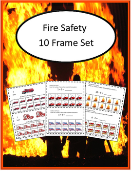 Fire Safety 10 Frame Adding Counting Subtraction Special Education Math