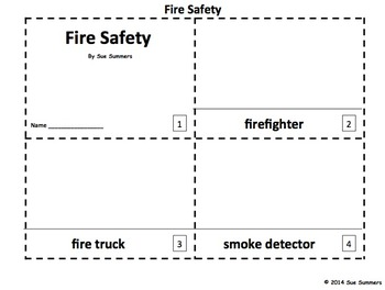 Fire Safety 2 Emergent Reader Booklets - 12 Pages
