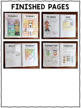 Fire Safety Interactive Notebook Activities