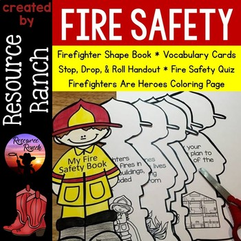 Fire Safety Shape Book and Printables