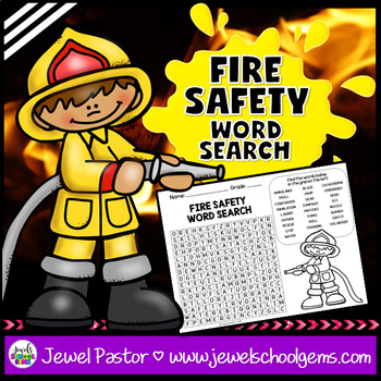 Fire Safety Word Search Activities