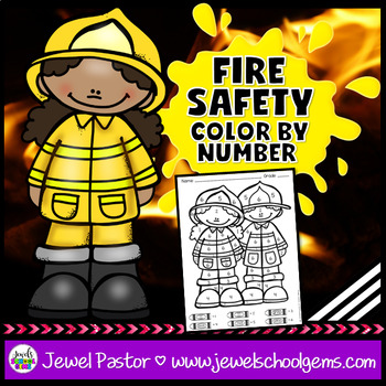 Fire Safety Week Activities (Fire Safety Week Color By Number)