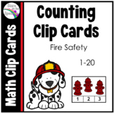 Fire Safety Week Math Activities (Counting 1-20 Clip Cards)