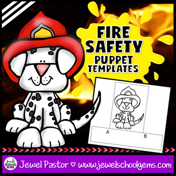 Fire Safety Crafts Activities (Fire Safety Week Finger Puppets)