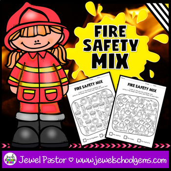 Fire Safety Week Activities (Safety Mix Worksheets)