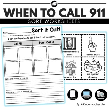 How To Call 911 Worksheets & Teaching Resources | TpT