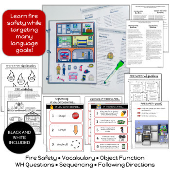 Fire Safety Life Skills Interactive Book Speech Therapy