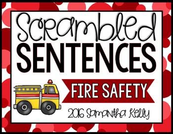 Fire Safety Scrambled Sentence Station