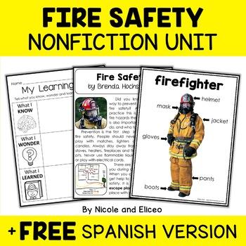 Nonfiction Unit - Fire Safety Activities