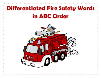 Fire Safety ABC Order - Differentiated