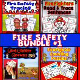 Fire Safety Activities Bundle : Literacy, Math, Crowns, and Tracing