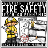 Learning About Fire Safety Worksheet Activities Posters • Teach- Go Pennants™