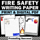 Fire Safety Activities Writing Papers with Picture Prompts for Kids