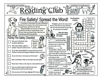 Fire Safety Two-Page Activity Set
