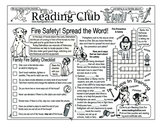 Fire Safety -- Spread the Word -- Two-Page Activity Set &