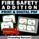 Addition Task Cards, Fire Safety Activities 1st Grade Kind