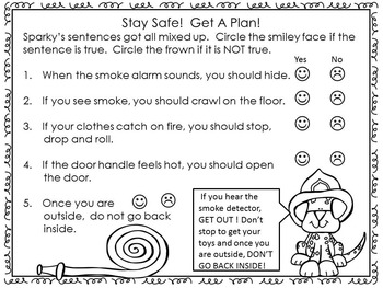 Fire Safety- All About Fire Safety Workbook for First Grade