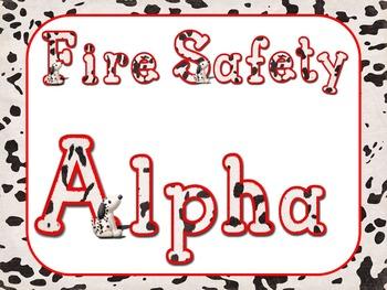 Fire Safety Alpha {Dalmatians}