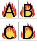 Fire Safety Alphabet Cards