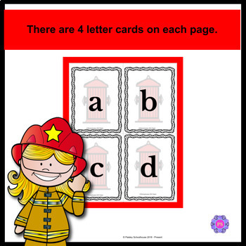 Fire Safety: Alphabet Cards