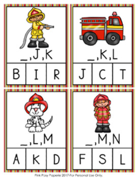 Fire Safety Alphabet Letter Sequencing Clip Cards