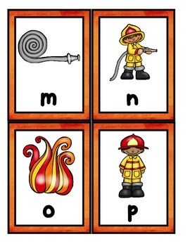 Fire Safety:  Alphabet Scavenger Hunt: Upper and Lowercase Letters