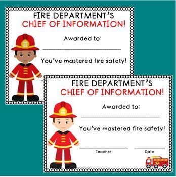 Fire Safety Awards!