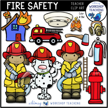 Fire Safety Awareness Clip Art - Whimsy Workshop Teaching