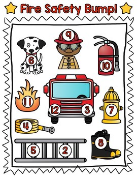Fire Safety BUMP! Perfect for Fire Safety or Community Helpers themes!