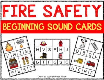 Fire Safety Beginning Sound Cards