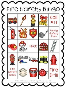Fire Safety Bingo