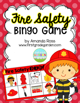 Fire Safety Bingo {Small Group Health or Social Studies Activity}