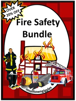 Fire Safety Bundle Math and Literacy Printables Special Ed