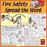 Fire Safety Bundle - Activity Set, Word Search, Crossword,