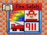 Fire Safety Bundle Watch, Think, Color Games - EXPANDING BUNDLE Mystery Pictures