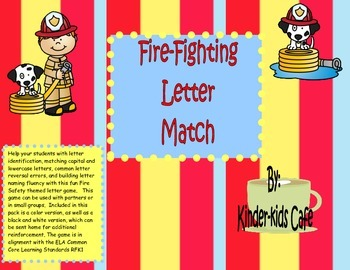 Fire Safety Capital and Lowercase Match Game