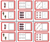 Fire Safety Cards: Numbers 1-6 Trace or Write