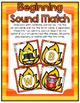 Fire Safety Center ~ Beginning Sounds Match