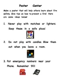 Fire Safety Center- Create a Poster