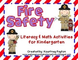 Fire Safety Center Literacy and Math Activities - Common Core Aligned