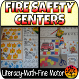 Fire Safety Centers Math Literacy Community Helpers Recording Sheets Worksheets
