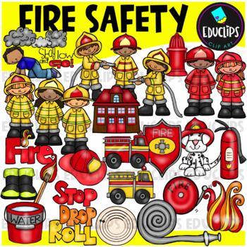Fire Safety Clip Art Bundle {Educlips Clipart}