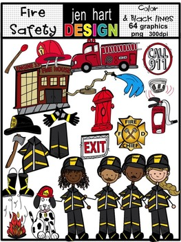 Fire Safety Clipart Set