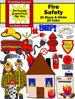 Fire Safety Week Clip Art Commercial Use Clipart for Activ