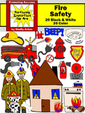 Fire Safety Clip Art Firetruck, Hydrant, Dalmatian, Extinguisher, Smoke Detector
