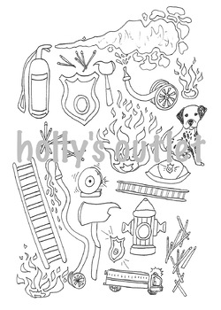 Fire Safety Clipart // Fire Safety, Fireman, Fires, Firehouse, Firetruck