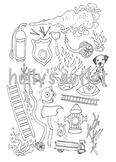 Fire Safety Clipart // Fire Safety, Fireman, Fires, Fireho